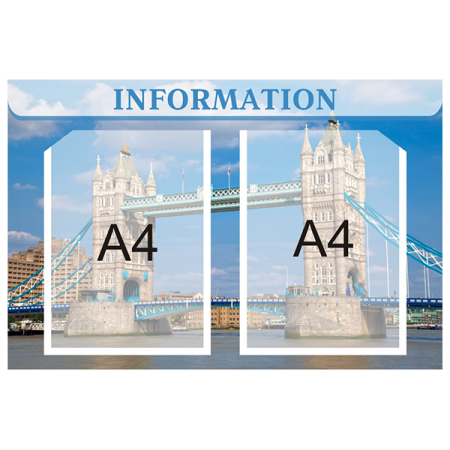 Стенд Information на 2 кармана