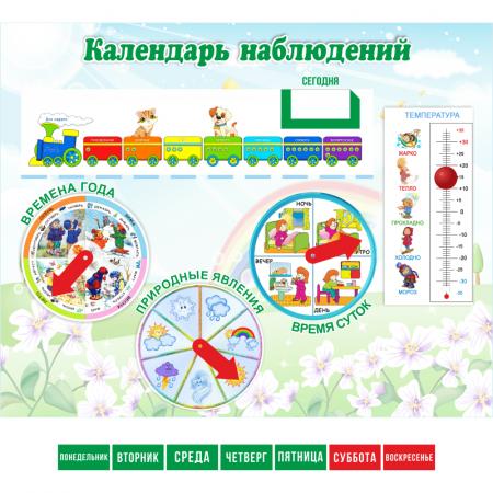 """Стенд """"Календарь наблюдений"""" интерактивный"""